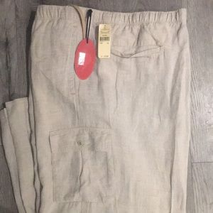 Tommy Bahama Big and Tall linen cargo pant